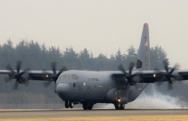 Yokota welcomes PACAF's first C-130J Super Hercules